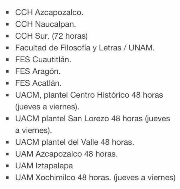 Escuelas que se van al Paro en lucha con la CNTE #18SMxOcupaElZócalo