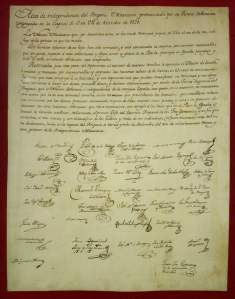 1821 acta de independencia