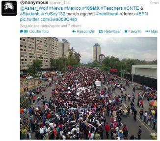 Miles en la marcha de hoy #18SMx DF CNTE
