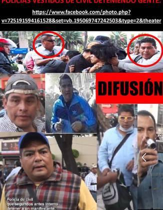 Sujetos de civil infiltrados en manifestación 2 de octubre haciendo detenciones e incluso roban.