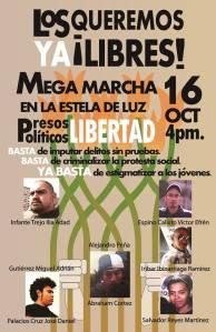 cartel marcha por su liberad