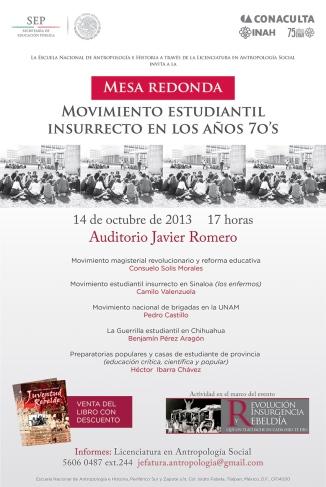 Movimiento Estudiantil Insurrecto en los años 70as Oct. 14, 5PM