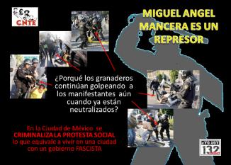 @ManceraMiguelMX represor de´estudiantes, artistas, fotógrafos ...