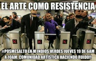 Artistas, jaraneros, actrices, bailarinas, mimos, pintores convocatoria al #PosMeSalto en Indios Verdes #20dmx