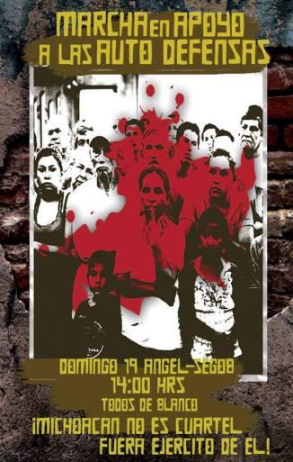 Dom. 19 de Enero 2014 Marcha en apoyo a las Autodefensas #Michoacán Ángel-Gobernación 2 PM
