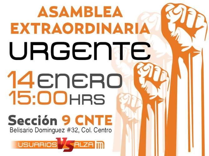 Enero 14 #PosMeSalto #MetroPopular Asamblea Extraordinaria en Belisario Domínguez 32, Centro cerca metro Allende