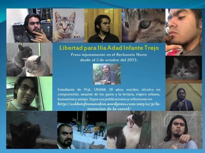 Libertad para Ilia Adad Infante Trejo #LibertadPresos2deOct #12diasrumboal20e