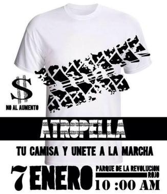 ¡Únete, este martes 7 de Enero #PosMeSaltoGDL marcha vs el 'tarifazo'! Nos vemos a las 10 AM en el parque Revolución