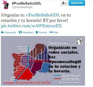 ¡Organiza tu #PosMeSaltoGDL en tu estación y tu horario!