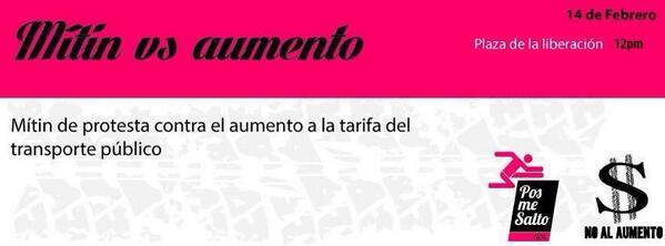 14 de Febrero #PosMeSalto Guadalajara! Plaza de la Liberación todos #ContraElTarifazo