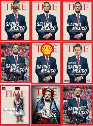 Memes de EPN en la portada de la revista TIME