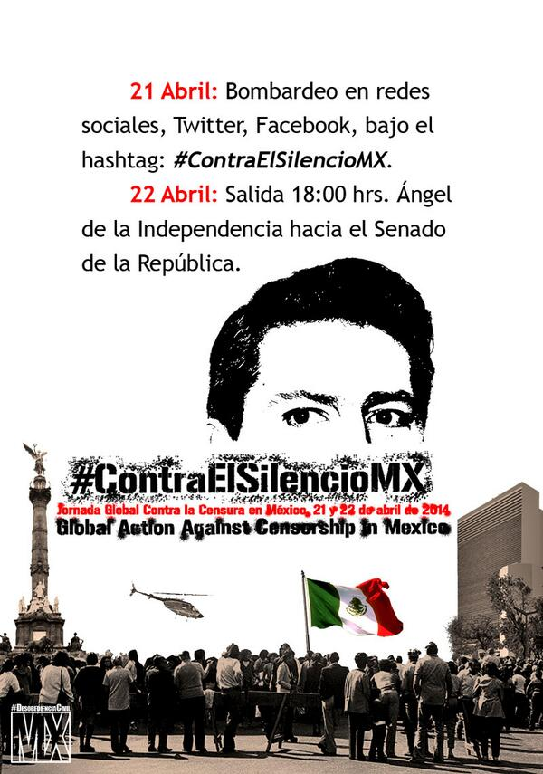 #ContraElSilencioMX 21 y 22 Abril