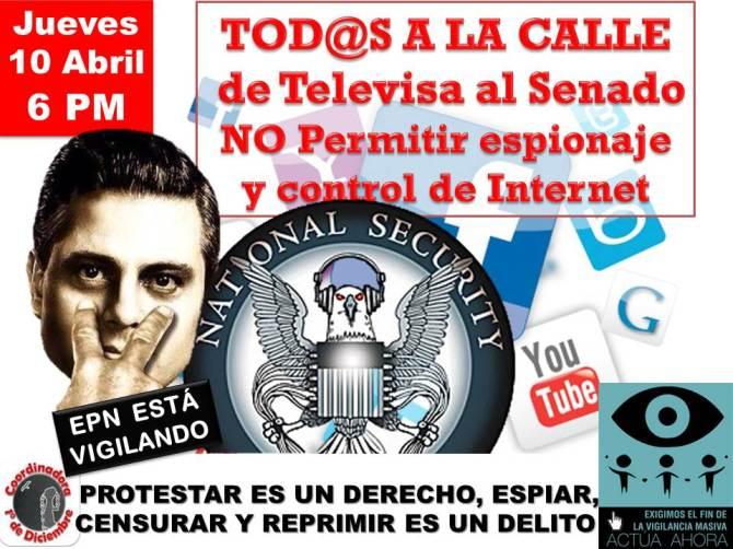 #DefenderInternet Abril 10 de Televisa al Senado 6 PM #NoMasPoderAlPoder
