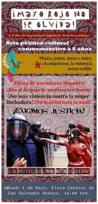 #Atenco NO se Olvida: 8 Años de Impunidad e Injusticia