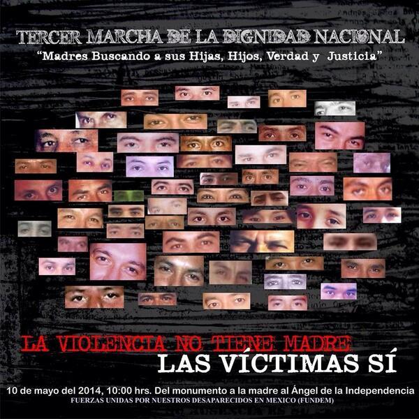 #10Mayo Exigir presentación con vida de hijxs desaparecidos #MadresBuscando