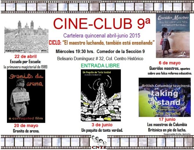cartelera cine club 2